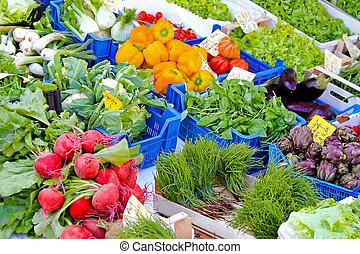 verdura, mercato