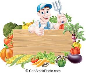verdura, segno, giardiniere