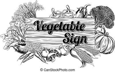 verdura, vendemmia, produrre, segno
