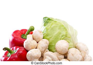 verdura, vitamina, collezione