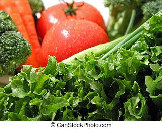 verdure fresche, bagnato