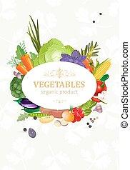 verdure fresche, disegno, tuo, scheda