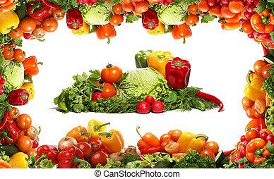 verdure fresche, fractal, saporito