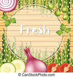 verdure verdi, bordo, sagoma