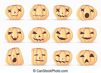 vernice acquarellatura, halloween, isolato, elemento, decorazione, realistico, fondo, zucca, felice