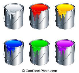 vernice, buckets.