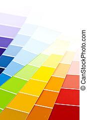 vernice, campioni, scheda, colorare