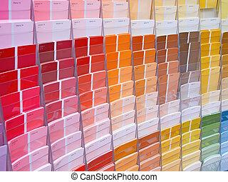 vernice, colorito, campioni
