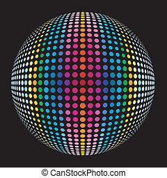 vernice, palla, colorato