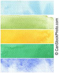 vernici, struttura, carta, fondo, -, grande, acquarello, ruvido