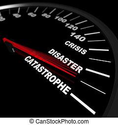 verso, catastrofe, accelerare