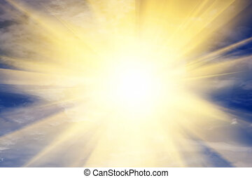 verso, cielo, luce, religione, sun., dio, providence., esplosione