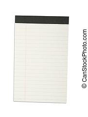 verticale, quaderno, faccia, carta, vuoto, bianco, uno