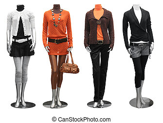 vestire, indossatrice, moda