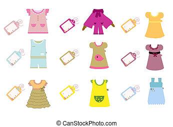 vestiti bambino, collezione, bambini