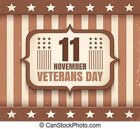 veterani, americano, giorno