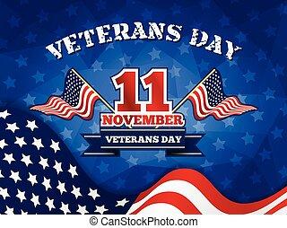 veterani, distintivo, giorno, fondo
