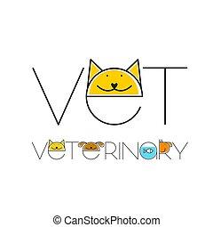 veterinario, disegno, sagoma