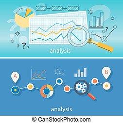 vetro, analisi, ingrandendo, dati