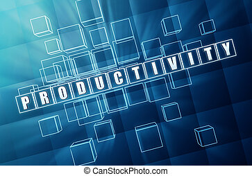 vetro blu, cubi, produttività