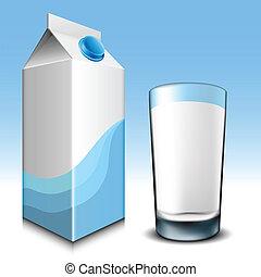vetro, cartone, latte
