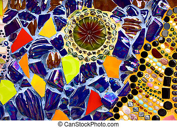 vetro, disegno, colorito, motivi dello sfondo