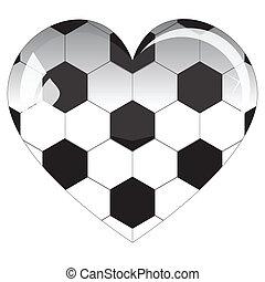 vetro, football, cuore