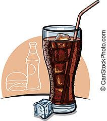 vetro, ghiaccio, cola