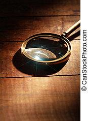 vetro, legno, ingrandendo