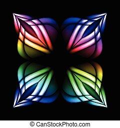 vetro, macchia, fiore