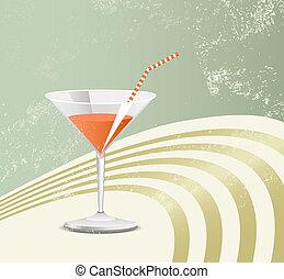 vetro, retro, cocktail