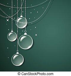 vetro, sfondo verde, decorazioni, trasparente