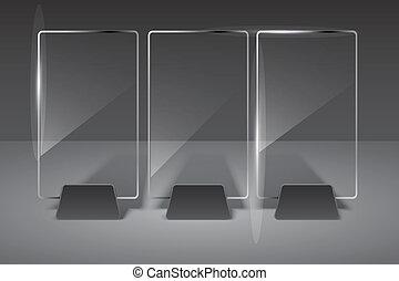 vetro, vettore, eps10, illustration., billboard.