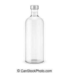 vetro, vodka, cap., bottiglia, argento