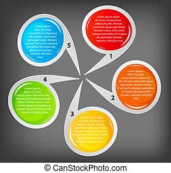 vettore, affari, bandiere, differente, colorito, circolare, illustrazione, concetto, design.