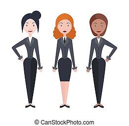 vettore, affari donna