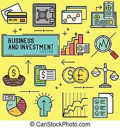vettore, affari, investimento
