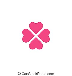 vettore, amore, simbolo, logotipo, sagoma