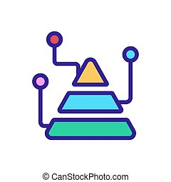 vettore, analisi, illustrazione, piramide, icona, grafico, contorno