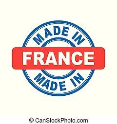 vettore, appartamento, france., fatto, emblema