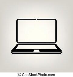vettore, appartamento, grafico, web, mobile, laptop, ui, illustrazione, simbolo, luogo, computer, media, sociale, disegno, upp, icona