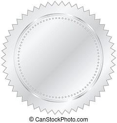 vettore, argento, illustrazione, sigillo