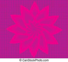 vettore, arte, fiore, fondo, rosso