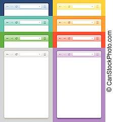 vettore, astratto, browser, disegno, smartphone