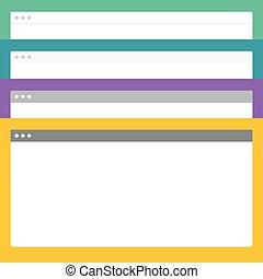 vettore, astratto, browser, disegno