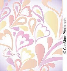 vettore, astratto, floral., fondo, colorito