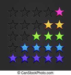 vettore, baluginante, stelle