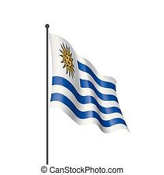 vettore, bandiera, illustrazione, uruguay