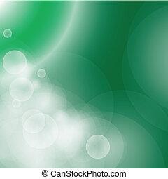 vettore, bokeh, astratto, verde, eps10, fondo.