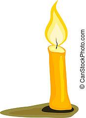 vettore, candle., illustrazione